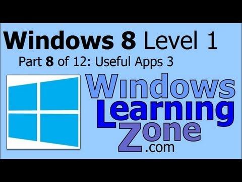 Microsoft Windows 8 Öğretici Bölüm 08 12: Yararlı Uygulamalar 3