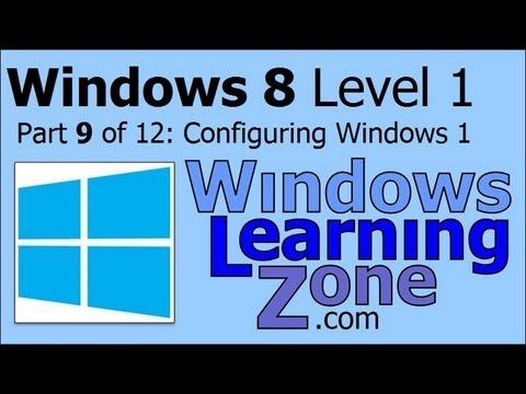 Microsoft Windows 8 Öğretici Bölüm 09 12: Windows 1 Yapılandırma