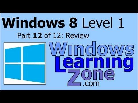Microsoft Windows 8 Öğretici Bölüm 12 12: Gözden Geçirme