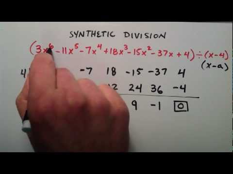 Sentetik Division Örnek 1 Nasıl