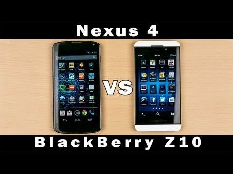 Blackberry Z10 Vs Lg Nexus 4