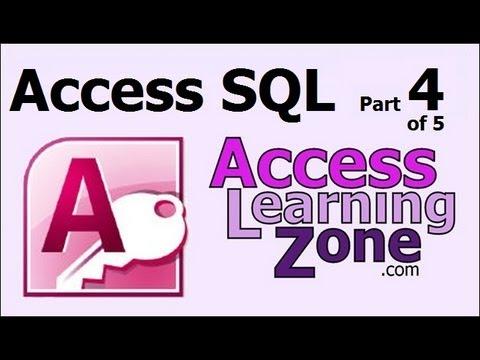 5 - Temel Sql Bileşenleri Microsoft Access Sql Bölüm 4