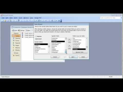 Microsoft Access 2003 Pt 1 (Tablolar)