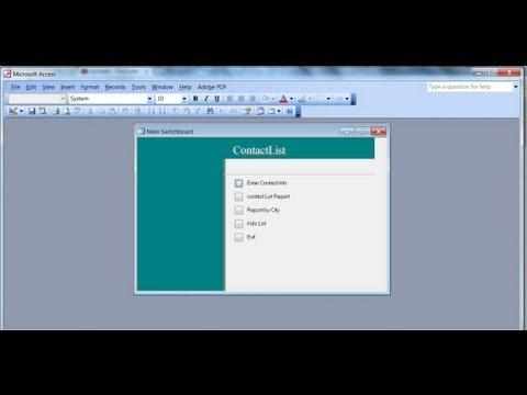 Microsoft Access 2003 Pt 5 (Raporlar Ve Geçiş Panosu Yöneticisi)