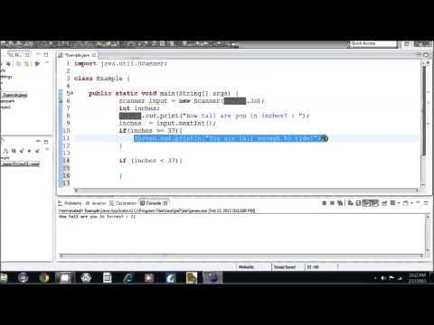 Java Öğretici - 9 - If Deyimleri