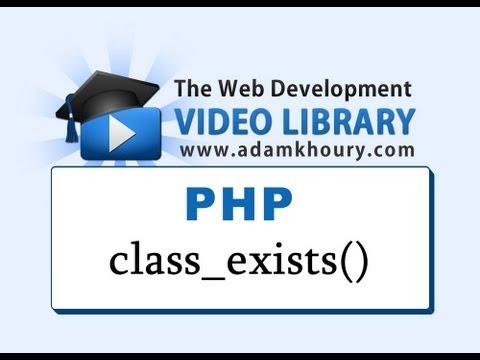 Php Dersleri - Class_Exists() İşlevi Nesne Yönelimli Programlama Oop