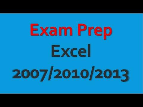 Sınav Hazırlık Microsoft Excel 2007/2010/2013 Pt 1