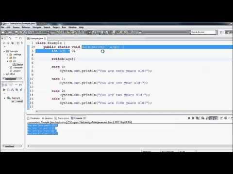 Java Eğitimi - 13 - Switch (Harf) İfadesi