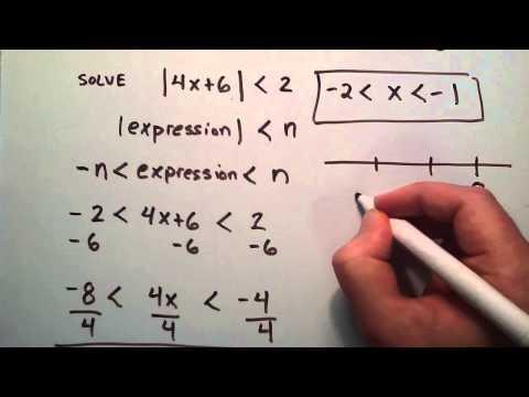 Nasıl Ders 51 Mutlak Değeri Eşitsizlikler (Örnek 1), Ara Cebir, Çözmek İçin