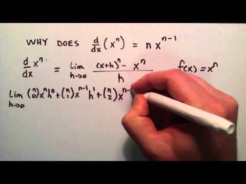 Kanıt - Neden D/dx Mu (X ^ N) = Nx^(N-1), Bölüm 4