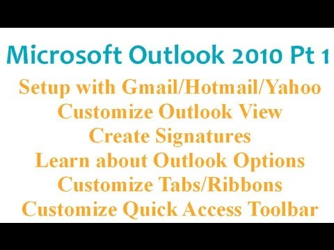 Microsoft Outlook 2010 Pt 1 (Kurulum, Seçenekleri, İmza, Manzarası...)