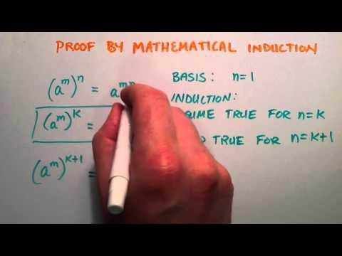 Kanıt Matematiksel İndüksiyon - Üs Kuralı Kanıtlayan Örnek Tarafından
