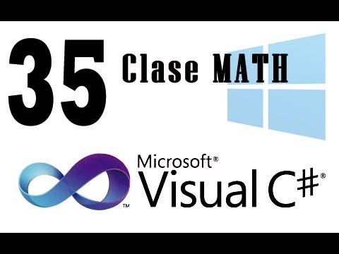 Öğretici C# - 35 - Clase Matematik