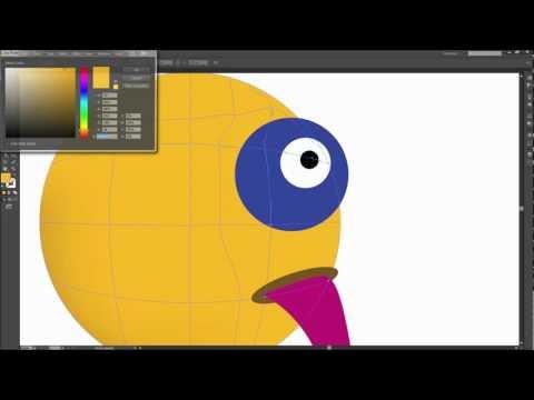 Illustrator Eğitimi: Degrade Kafes Şekilleri - Hd Gölge Kullanmak-