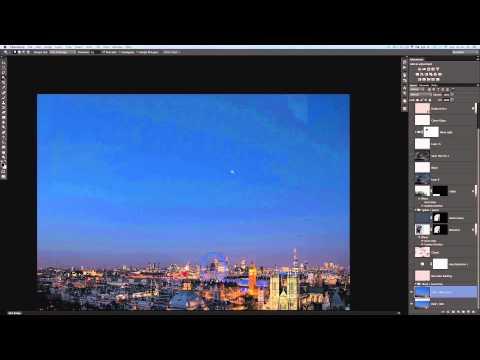 Nasıl Daha Fazla Gökyüzü Photoshop Katmanları Otomatik Karıştır Kullanarak Resimlerinizi Eklemek İçin