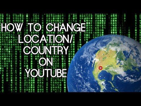 Nasıl Yer/ülke Youtube [Hd] Değiştirmek İçin