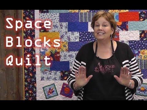 Uzay Blokları Çocuklar Öğretici Yorgan