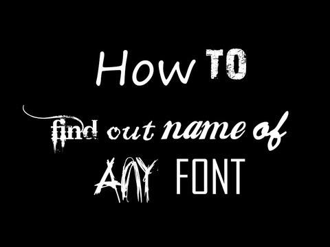 Herhangi Bir Yazı Tipi [Hd] Adını Bulmak Nasıl