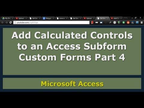 Alt Formlar - Özel Formlar Bölüm 4 İle Hesaplanan Denetimleri Ekleme