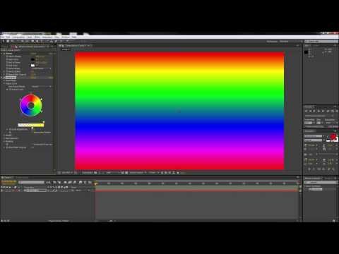 After Effects Tutorıal: Yapmak Çok Renkli Degradeler - Hd-