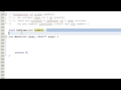 Nasıl Bir Sayı Bir Bilgisayar Programı, C++, Bölüm 1 Yazarak Bir Asal Sayı İse Karar Vermek İçin