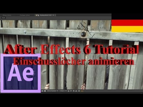 Sonra Etkileri Öğretici Deutsch: Einschusslöcher Animieren (İngilizce Altyazı Mevcuttur.)