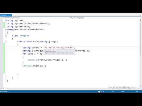 Öğretici C# - Metodo Split