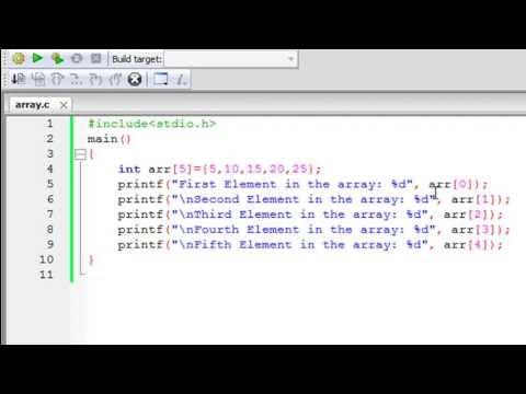 C Programlama Eğitimi - 51: Giriş Diziler