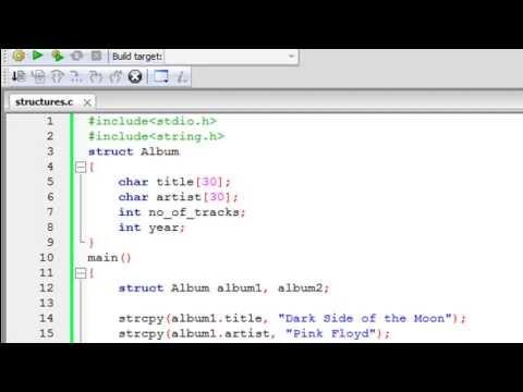 C Programlama Eğitimi - 64: Yapıları Giriş