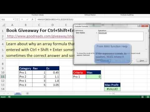 Excel Sihir Numarası 1021: Dolaylı Kesişme Veya #value Hata: Yok Ctrl + Üst Karakter + Enter