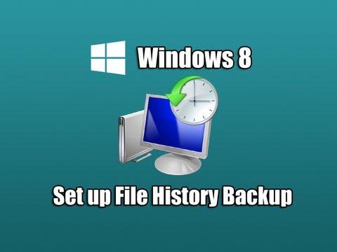 Dosya Geçmiş Yedekleme Windows 8 Ayarlayın