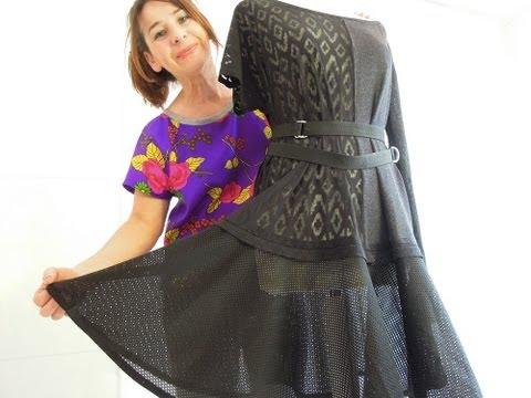 Nasıl Upcycle Dikiş Öğretici Bir Elbise - Yapmak