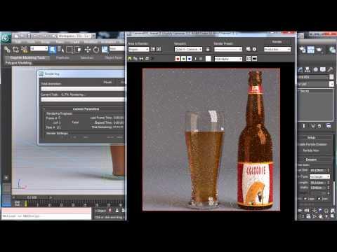 3Dsmax Photoreal Bira Şişesi - 3Ds Max Öğreticiler Oluşturma