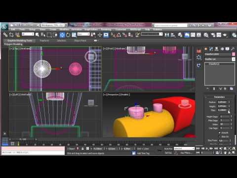 Oluşturma Bir Oyuncak Tren 3D Studio Max - Part1 - 3Ds Max Rehberler [720P]