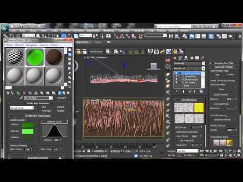 Ornatrix Basit Çim - 3Ds Max Rehberler [720P]