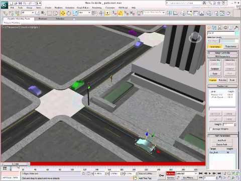 3Ds Max Eğitimi, Yol Kısıtlaması - Bölüm 2 [Hd 720 P] Kullanarak