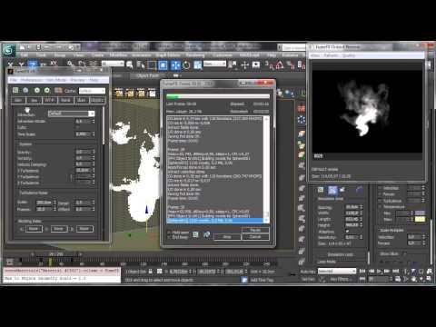3Ds Max Tutorials, Basit Mürekkep Simülasyon Krakatoa [Hd 720P] İle