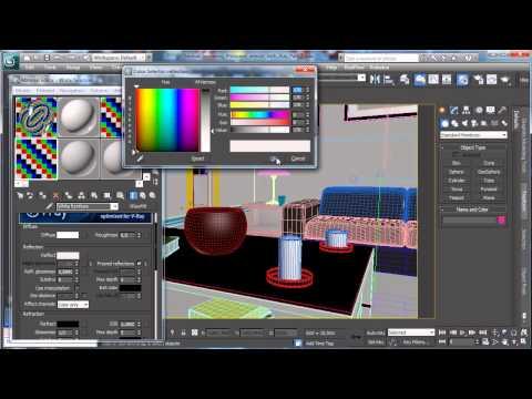 3Ds Max Tutorials, Photoreal İç İray - Part2 İle [Hd 720P]
