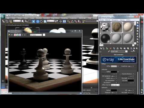 3Ds Max Tutorials, Photoreal Satranç Tahtası Adet - Part1