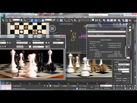3Ds Max Tutorials, Photoreal Satranç Tahtası Adet - Part2