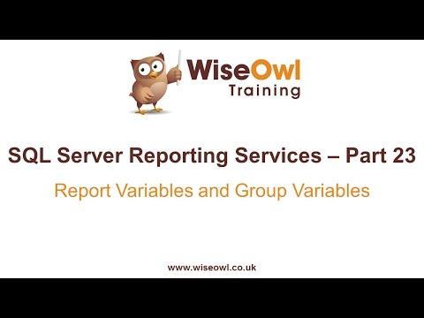 Reporting Services (Ssrs) Bölüm 23 - Rapor Değişkenleri Ve Grup Değişkenleri