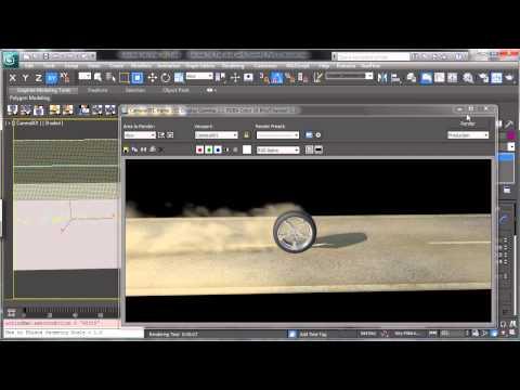 3Ds Max Eğitimi, Lastik Toz Fumefx - Part 2 [Hd 720P] İle
