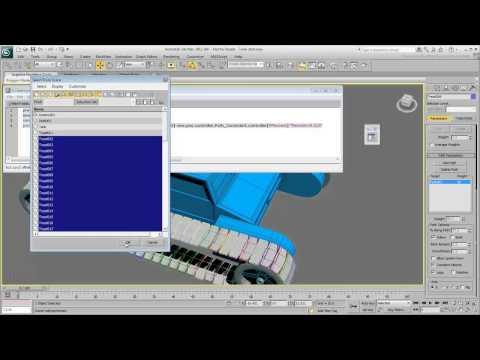 3Ds Max Eğitimi, Tank Hareketlendirme İzleri - Bölüm 2 [Hd 720P]