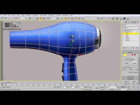 3Ds Max Eğitimi, Modelleme Saç Kurutma Makinesi