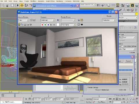 İç Aydınlatma İle 3Ds Max Standart Işıklar