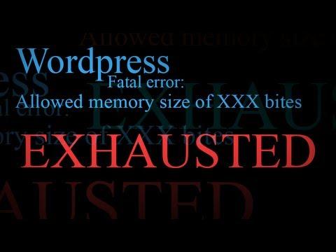 """""""wordpress Ölümcül Hata İzin Bellek Boyutu Yorgun"""" Saptamak"""