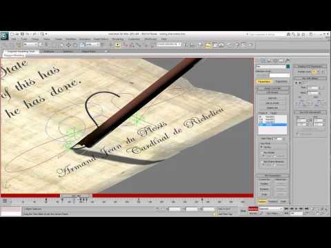 3Ds Max Eğitimi, Metin - Metin Kendi Kendine Yazma - Bölüm 4 [Hd 720 P] Hareketlendirme