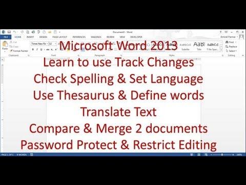 8 Microsoft Word 2013 Pt (Yazım, Değişiklikleri İzle, Parola Korumak)