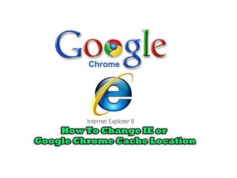 Nasıl Ie Veya Google Chrome Önbellek Konumu Değiştirmek İçin