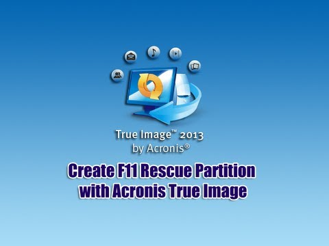 Acronis True Image İle F11 Kurtarma Bölümü Oluşturma